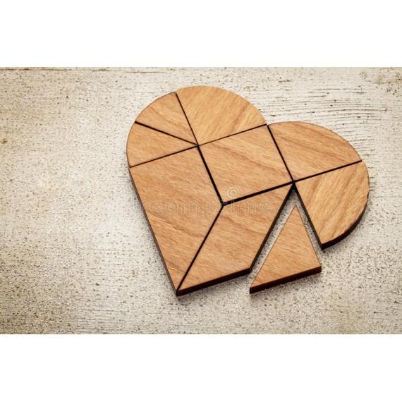 Tangram cuore