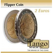 Coin thru card - 2 Euro flipper coin magnetico  e moneta magnetica