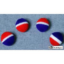 4 Palle per bussolotti ,Crochet Balls (grandi e Multicolor circa 5cm diametro)
