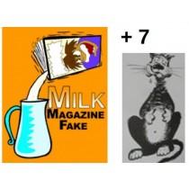 """Latte Dal Giornale ( Professionale) + 7 stampe per l'effetto """"la Sparizione Del Latte Nella Pancia Del Gatto"""""""
