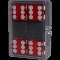 4 dadi rossi ( Near-precision 19mm) casino.