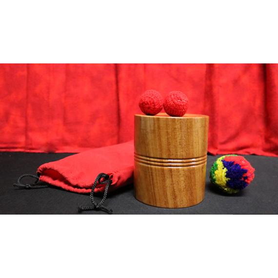 Chop cup in legno ( base piatta)