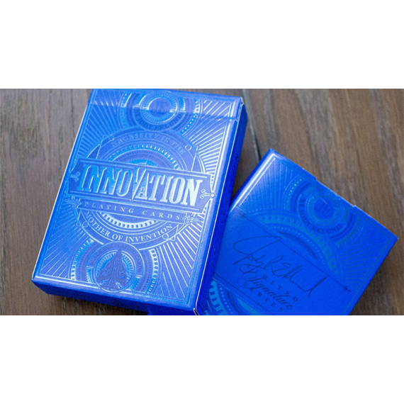 Innovation - Blue Signature Edition Playing Cards by Jody Eklund