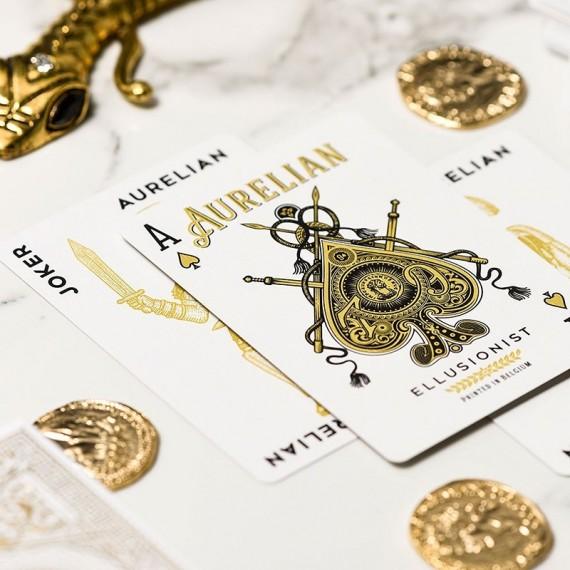White aurelian playing cards