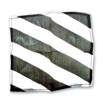 Zebra Silk 20x20cm black & white