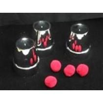 bussolotti in plastica (colore metallo)