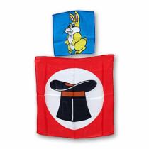 Foulard coniglio dal cappello