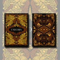 Unicorn Playing cards (Copper) by Aloy Design Studio USPCC