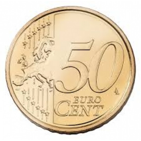 Hooked coin - 50 cents Euro