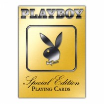 Playboy Special Edition Gold Deck Poker Size Playing Cards